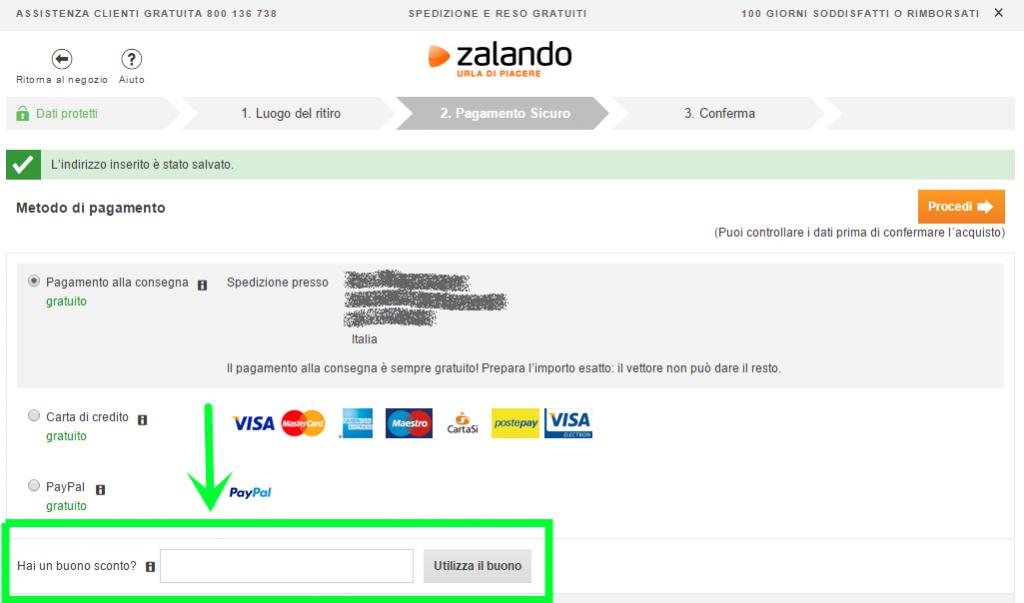 hot sale online eeede d89a5 Come fare acquisti su Zalando.it - the Shopping Corner