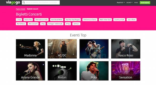 viagogo vendita biglietti concerti online