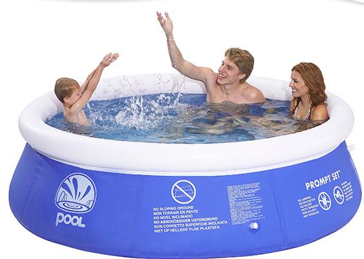 un tipo di piscina gonfiabile in pvc disponibile su giordanoshop.com